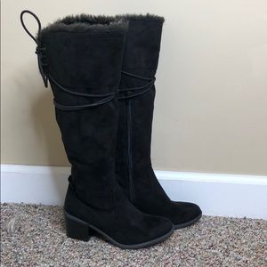 Merona - over the knee winter boots with fur 6